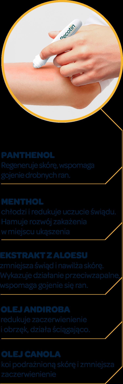 Składniki Recotin roll-on - grafika w wersji mobilnej